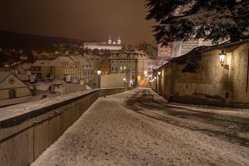 Strahovský klášter, Zimní noční Praha - IMG-6861.jpg