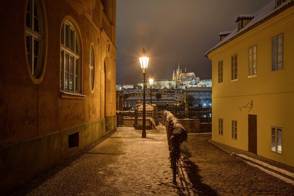 Zimní Pražský hrad, noční Praha - IMG-7058.jpg