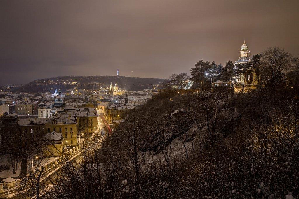 Hanavský pavilon, Letná, zimní noční Praha - IMG-7106.jpg