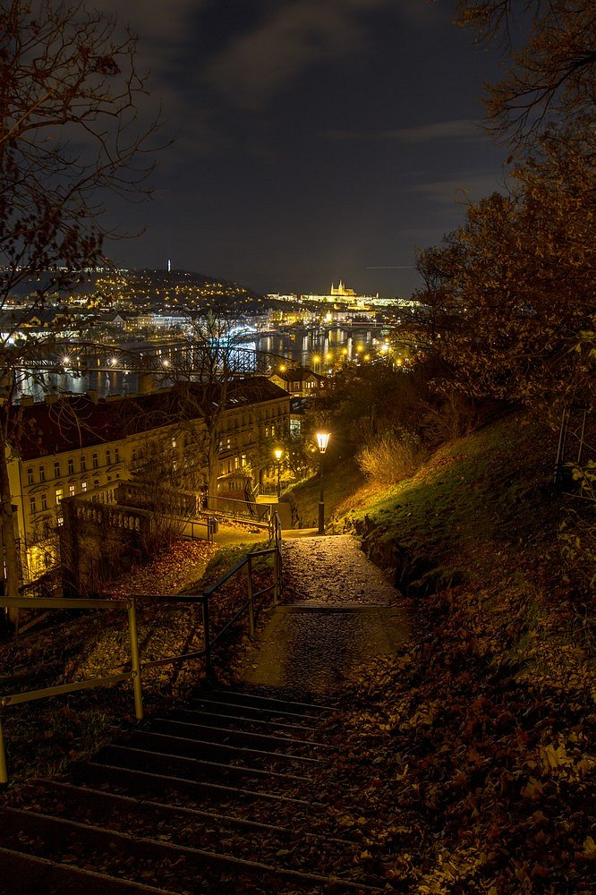 Noční Praha, Vyšehrad, Pražský hrad - IMG-6374.jpg