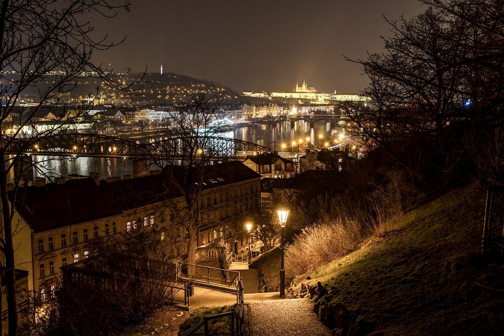 Noční Praha, Pražský hrad, Vyšehrad - IMG-4248.jpg